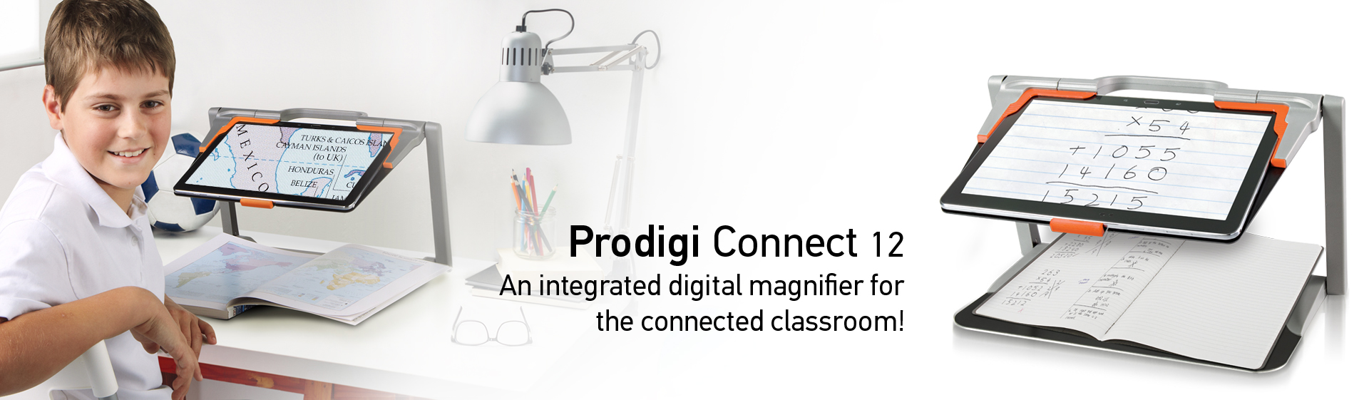 Prodigi Connect 12 - An Integrated digital magnifier for the connected classroom