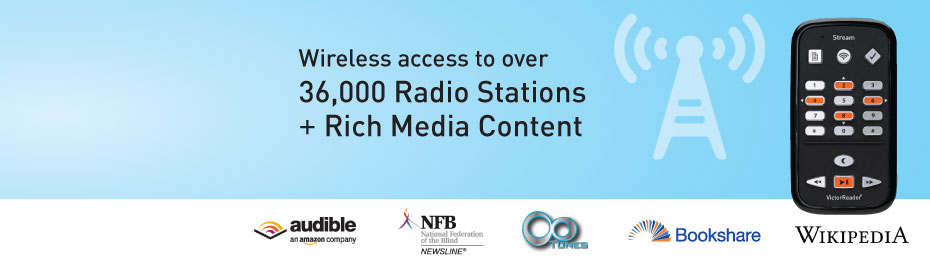 Victor Reader Stream - Wireless access to over 36,000 Radio Stations + Rich Media Content
